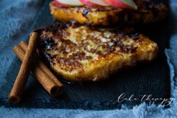 francuskie tosty cynamonowo-jabłkowe