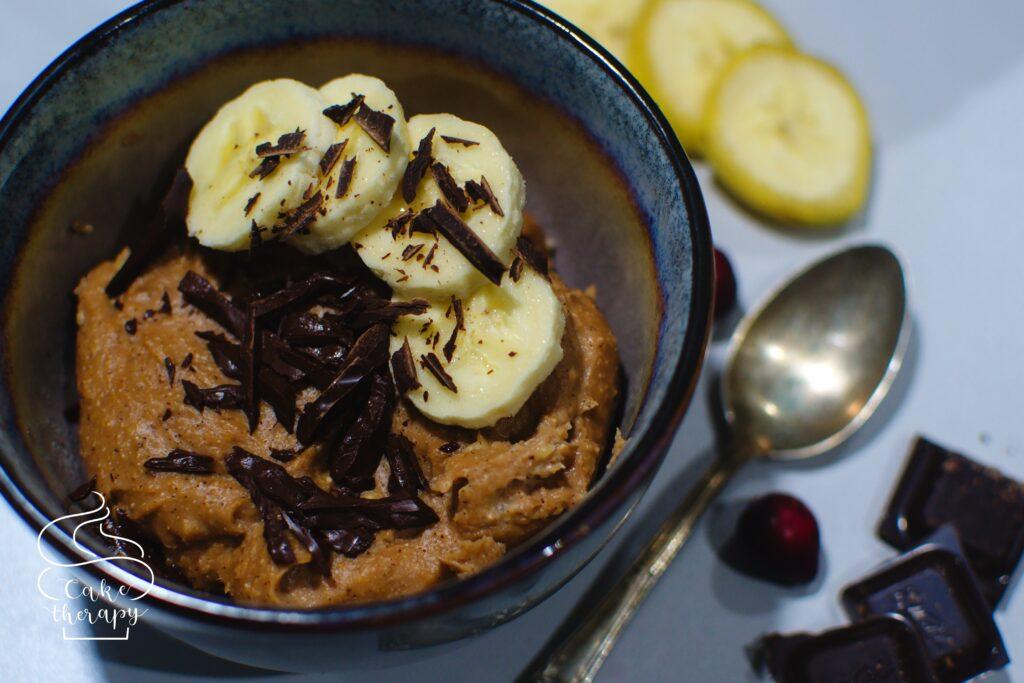 budyń jaglany czekoladowo-bananowy