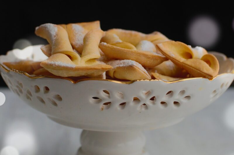 Fit faworki, pieczone w piekarniku
