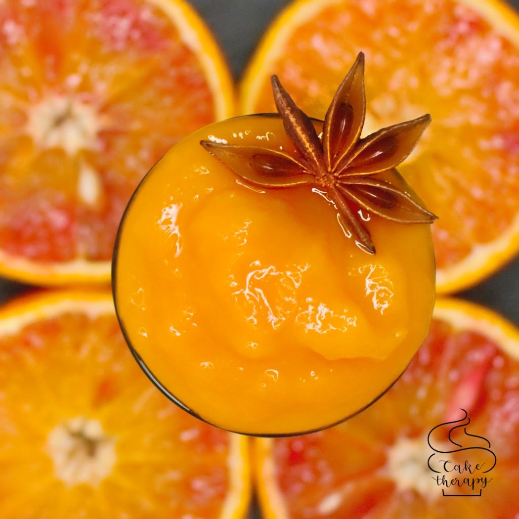 konfitura z czerwonej pomarańczy i mango