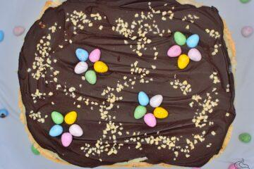 mazurek czekoladowy z kajmakiem
