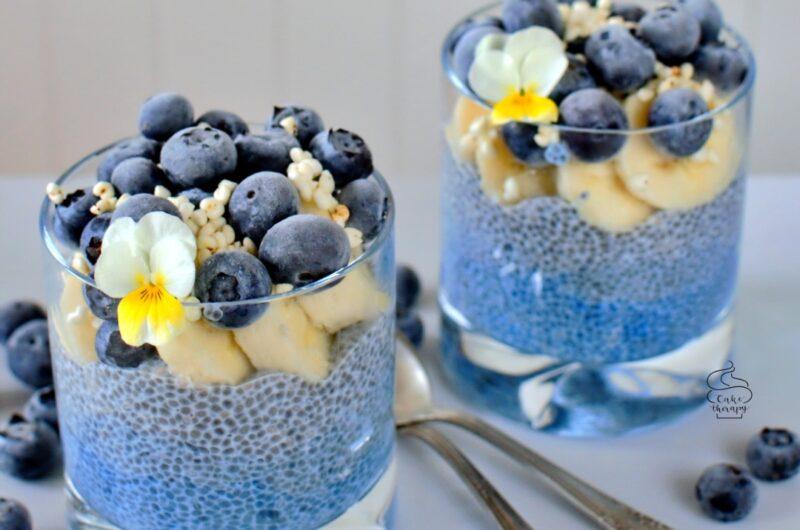 Ombre blue spirulina chia pudding